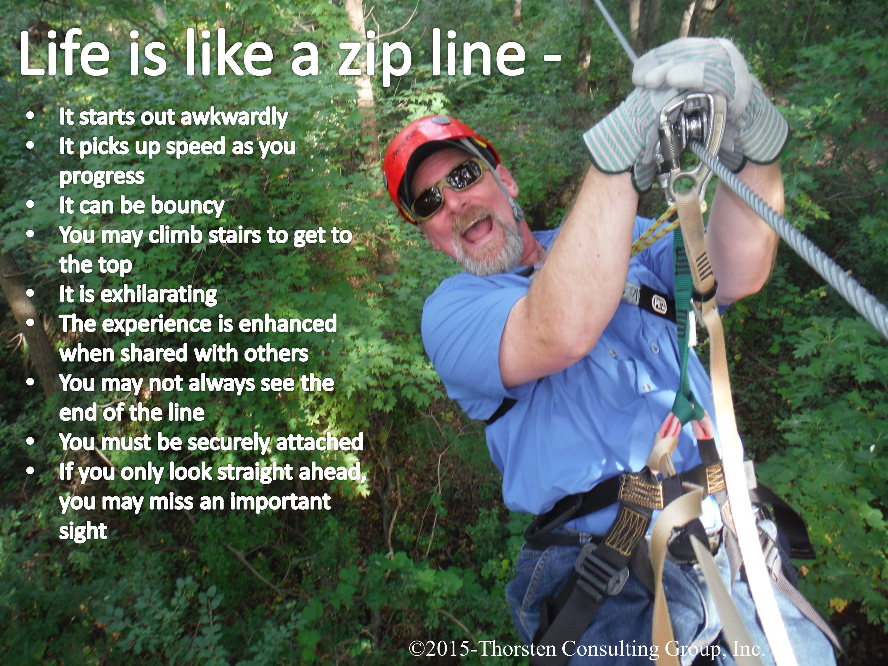 Life Is Like A Zip Line Thor S Hammer